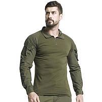 Тактическая рубашка Lesko A655 Green XXXL (40 р.) кофта с длинным рукавом камуфляжная армейская для военных, фото 6