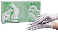 Перчатки смотровые нестерильные припудренные латексные «Semperсare» ТМ IGAR, размер М (упаковка 50 пар)