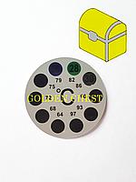 Термометр наружный, круглый (наклейка)