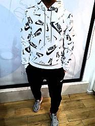Чоловічий костюм Чоловічий костюм Nike, Чоловічий теплий спортивний костюм, Зимовий чоловічий спортивний костюм