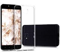 Чехол силиконовый для Zenfone 4 Selfie (ZD553KL) ультратонкий прозрачный