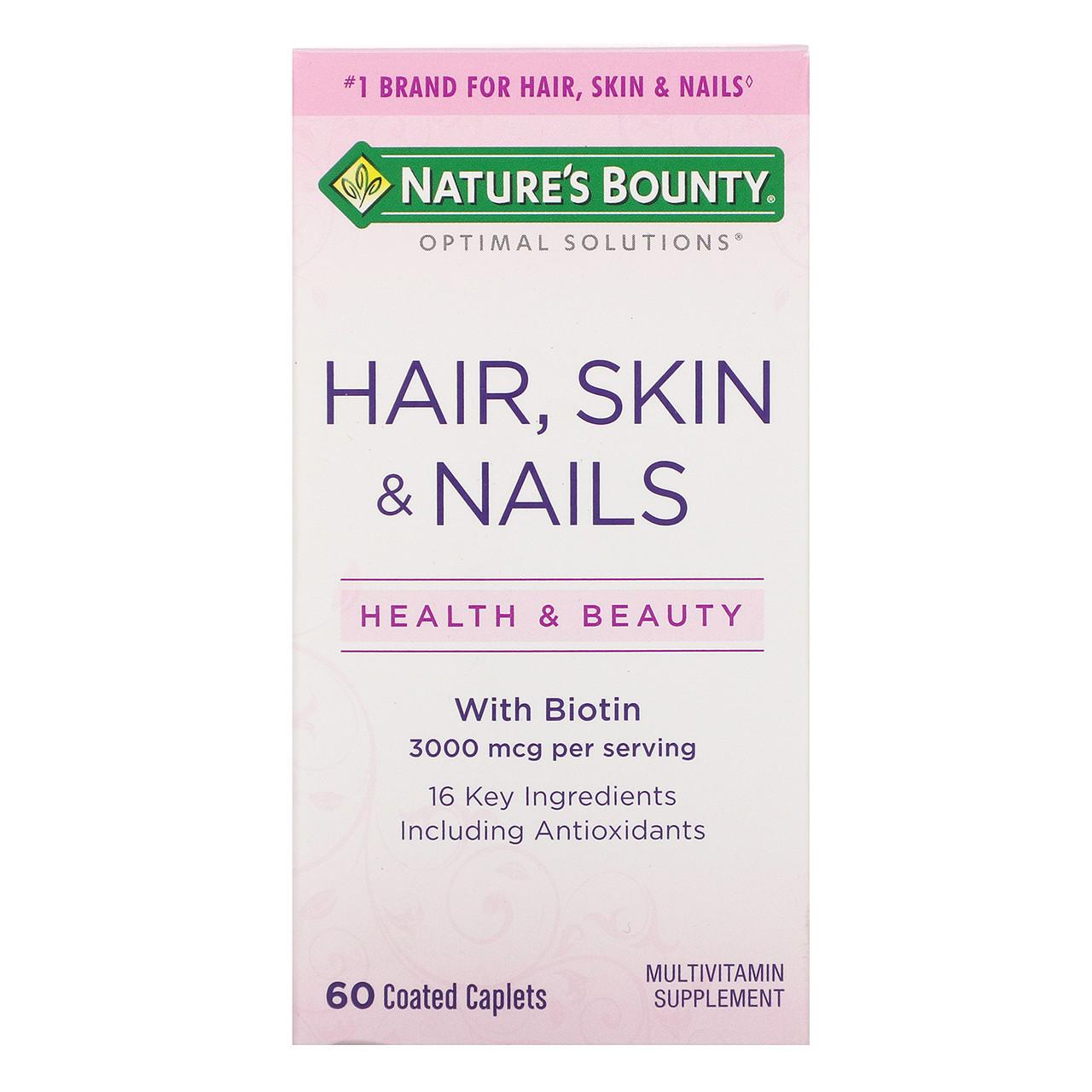 Витамины для волос и ногтей Nature's Bounty Hair, Skin & Nails
