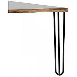 Опора мебельная трубчатая тройная Kapsan KMA-0016 h=710 мм Белая (KMA-0016-0710-B12)