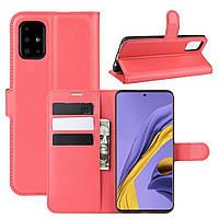 Чехол-книжка Litchie Wallet для Samsung Galaxy A51 A515 Red