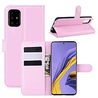 Чехол-книжка Litchie Wallet для Samsung Galaxy A51 A515 Pink