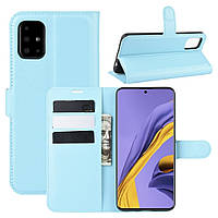 Чехол-книжка Litchie Wallet для Samsung Galaxy A51 A515 Blue