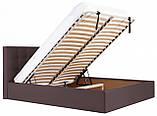 Кровать Richman Честер 140 х 190 см Флай 2231 С подъемным механизмом и нишей для белья Темно-коричневая, фото 7