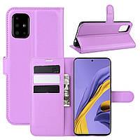 Чехол-книжка Litchie Wallet для Samsung Galaxy A51 A515 Violet