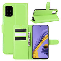 Чехол-книжка Litchie Wallet для Samsung Galaxy A51 A515 Green