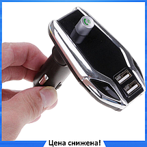 FM модулятор X8 Plus Bluetooth 2 х USB + AUX + MicroSD - MP3 модулятор, фм трансмиттер, блютуз модулятор, фото 3