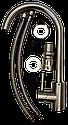 Высокий смеситель для кухни из нержавеющей стали на мойку SS AQUATICA (KT-4B170P), фото 7