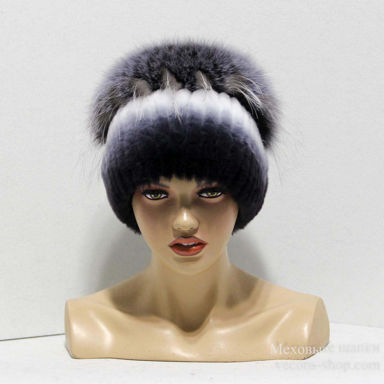 Меховые шапки из комбинированного меха песца и rex rabbit Кубанка.(м ... 24775105baae5