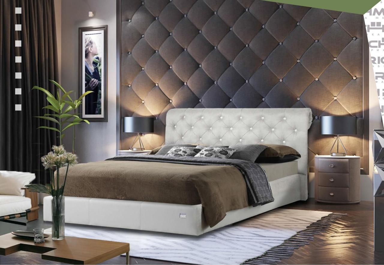 Кровать Richman Лондон 140 х 190 см Флай 2200 С подъемным механизмом и нишей для белья Белая