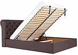 Кровать Richman Лондон 140 х 190 см Флай 2231 С подъемным механизмом и нишей для белья Темно-коричневая, фото 8