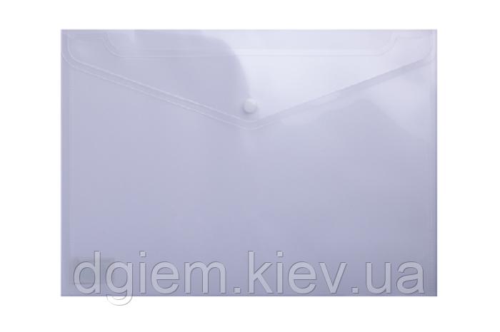 Папка-конверт на кнопці А4 прозора