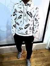 Мужской костюм Мужской костюм Nike, Мужской теплый спортивный костюм, Зимний мужской спортивный костюм