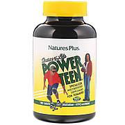 Мультивитамины для Подростков, Source of Life, Power Teen, Natures Plus, 180 таблеток