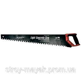 Ножовка по пенобетону 500 мм, твердосплавные напайки на зубцы, защитное покрытие полотна, 2К рукоятка МТХ