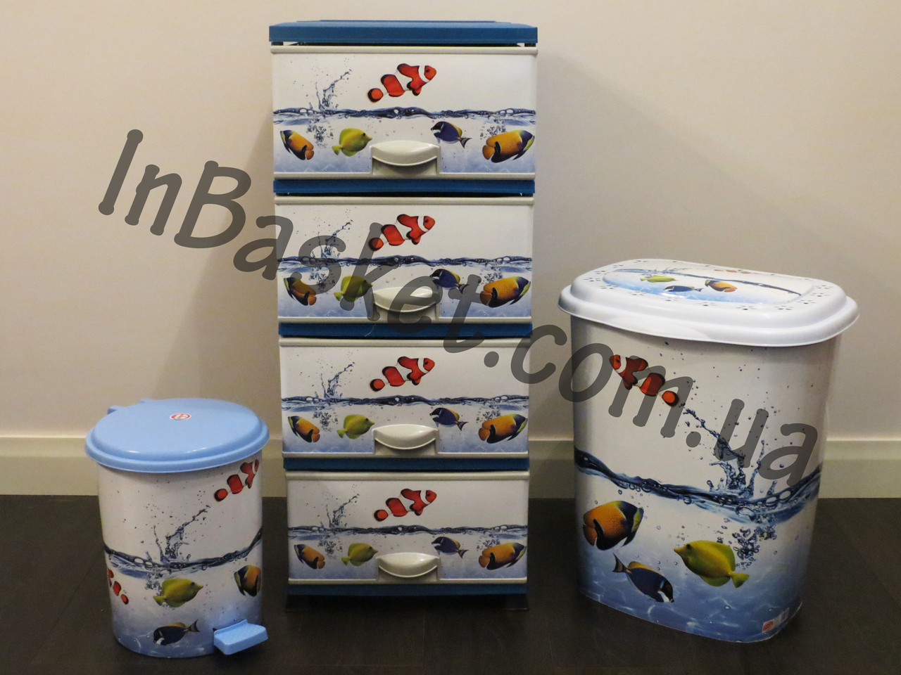 Набор для ванной комнаты Рыбки