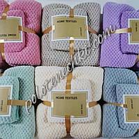 Комплект полотенец микрофибра Однотонные, фото 1