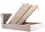 Кровать Двуспальная Richman Лондон 180 х 200 см Мисти Mocco С подъемным механизмом и нишей для белья Серая, фото 8