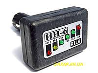 Светодиодный автомобильный вольтметр ИН6 v1  12В с штекером в прикуриватель RILK