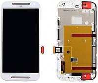 Дисплей Motorola Moto G2 XT1062 (XT1063, XT1064, XT1068) + Touchscreen with frame White