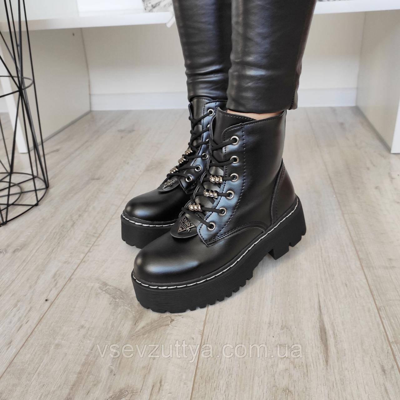 Ботинки женские черные зимние экокожа 37р