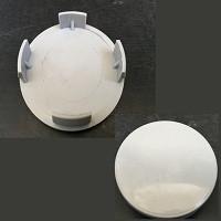 Колпачки на титаны 59/56/59 серые D-57 (гладкий овал)