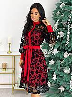 Красивое модное платье миди нарядное