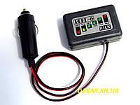 Светодиодный автомобильный вольтметр ИН6 12В на проводе в прикуриватель RILK