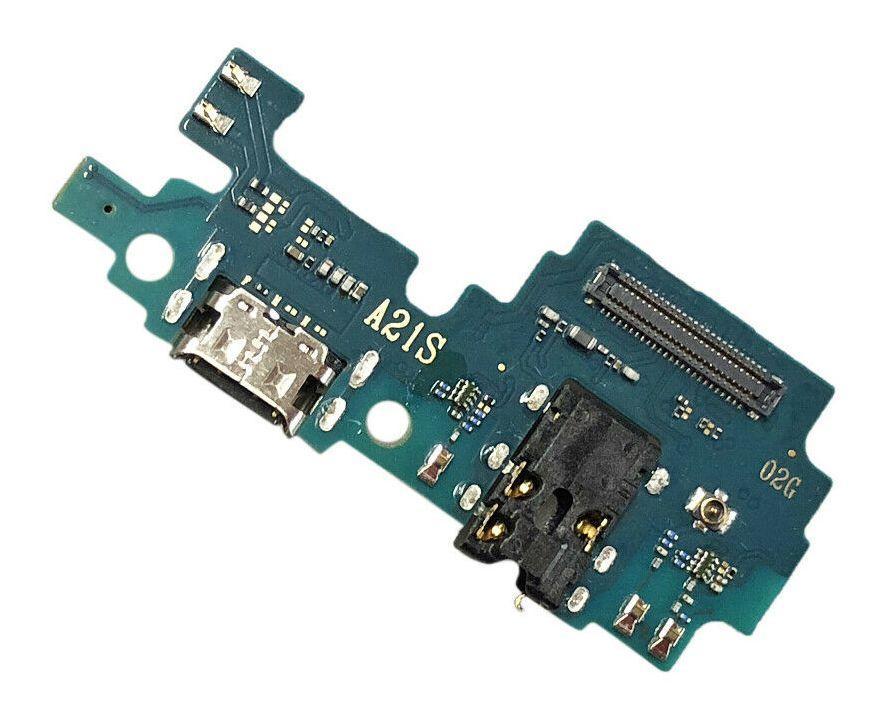 Нижня плата Samsung Galaxy A21S 2020 A217 з роз'ємом зарядки і мікрофоном