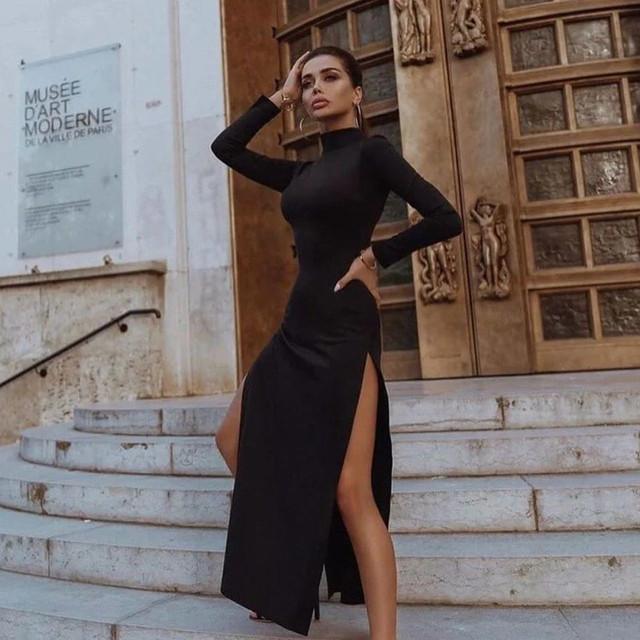 женское платье теплое в пол