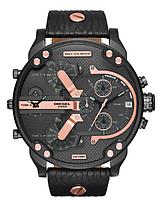Мужские наручные часы в стиле Diesel Brave black gold