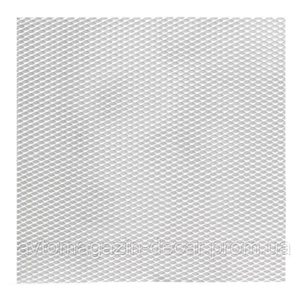 Сетка декоративная №1 100х20см хром (Elegant)  в упаковке  512021   (50шт/уп)