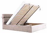 Кровать Двуспальная Richman Эдинбург 160 х 190 см Мисти Milk С подъемным механизмом и нишей для белья Бежевая, фото 7
