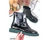 Ботинки демисезонные на ровной зеленой подошве, фото 2