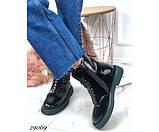 Ботинки демисезонные на ровной зеленой подошве, фото 5