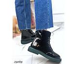 Ботинки демисезонные на ровной зеленой подошве, фото 6