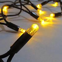 Светодиодная гирлянда нить String Light 20 м, 200 LED, Каучук, 200 LED, Каучук Желтый
