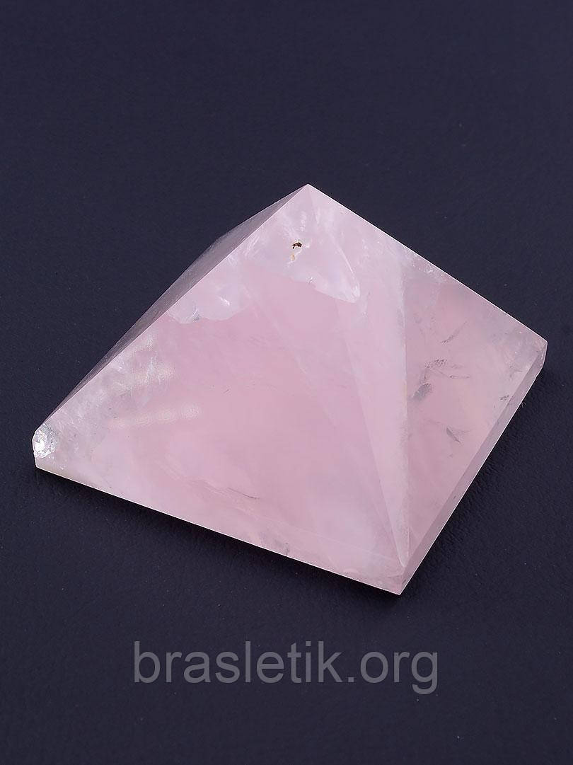 Сувенир Пирамида розовый Кварц