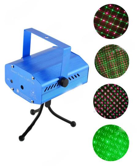 Новогодний светодиодный проектор Точки 09 красно-зеленый