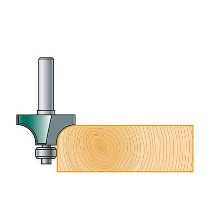 18,7х10х51х8, z=2, R=3 Радиусная кромочная фреза Stehle с опорным подшипником для ручного фрезера, фото 2