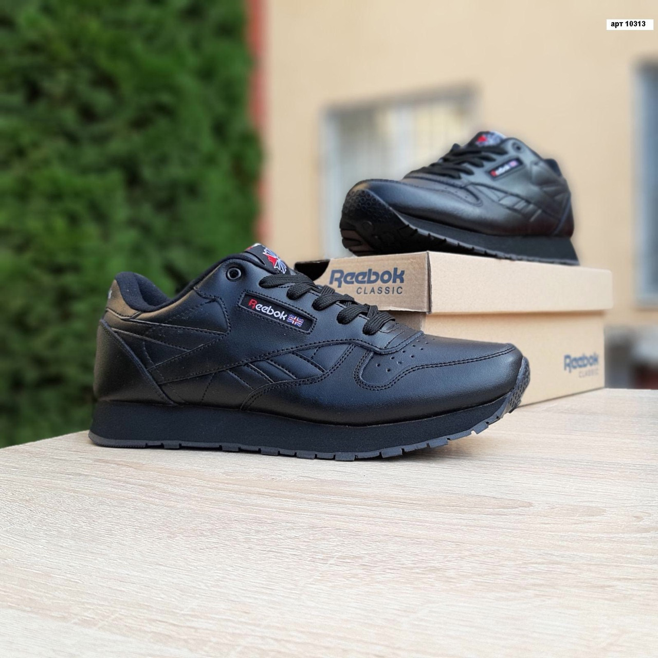 Мужские кроссовки Reebok Classic (черные) 10313