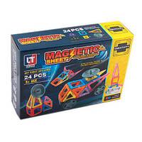 Магнитный конструктор на 24 деталей Magnetic sheet арт. 5004