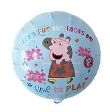 Фольгированный воздушный шар свинка пеппа время играть 45 см