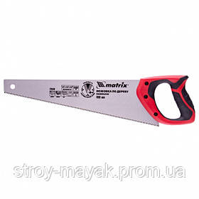 Ножовка по дереву 400 мм, 7-8 TPI, закаленный зуб - 3D, двухкомпонентная рукоятка, MTX