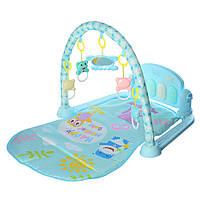 Развивающий детский коврик - пианино Голубой