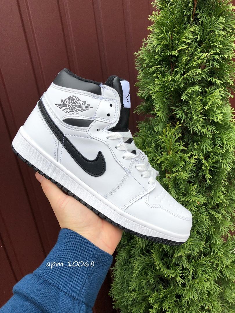 Мужские зимние кроссовки Nike Air Jordan 1 Retro (белые) 10068