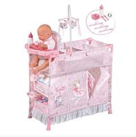 Кровать со стульчиком для кормления с манежем и шкафом для куклы (Baby Born) TM DeCuevas 53034
